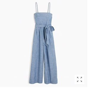 J.Crew - Chambray jumpsuit with tie